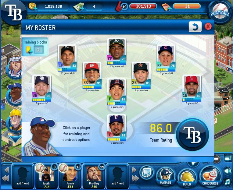 Brad's roster, yo!