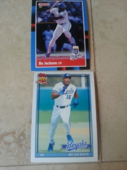 I only had two Bo Jackson cards, which saddened me.