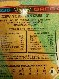 Interesting find on the '91 Topps Stadium Club. There appears to be a primitive Pitch F/X system featured.