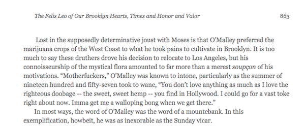 The Felis Leo of Our Brooklyn Hearts, Times and Honor and Valor (Google Books excerpt)