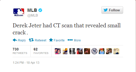 Jeter Tweet