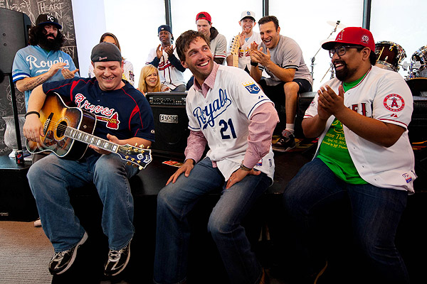 Kansas City Royals visit the MLB Fan Cave