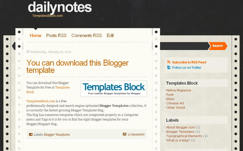 daily-notes_blogger-template