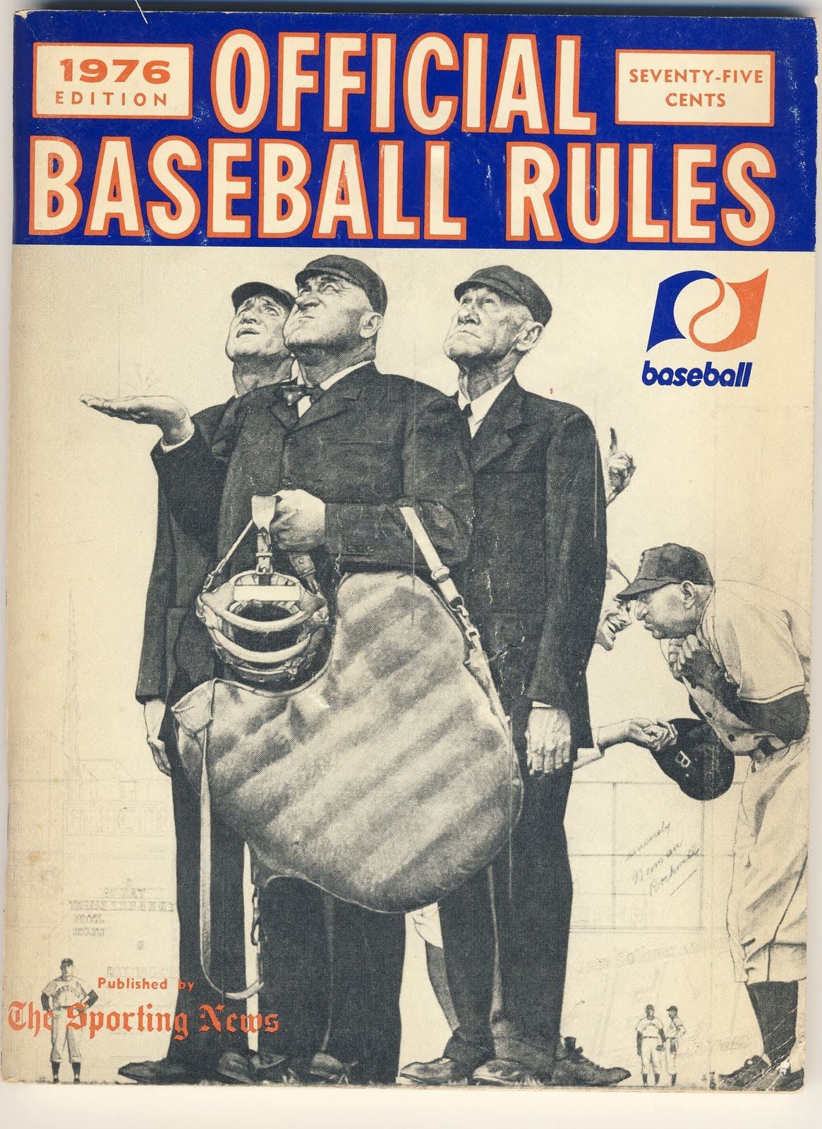 Baseball Rule Book Cover